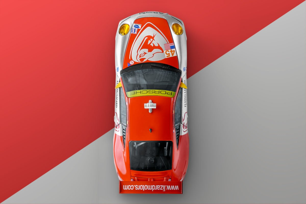 BBurago Porsche 911 GT3 RSR Flying Lizard